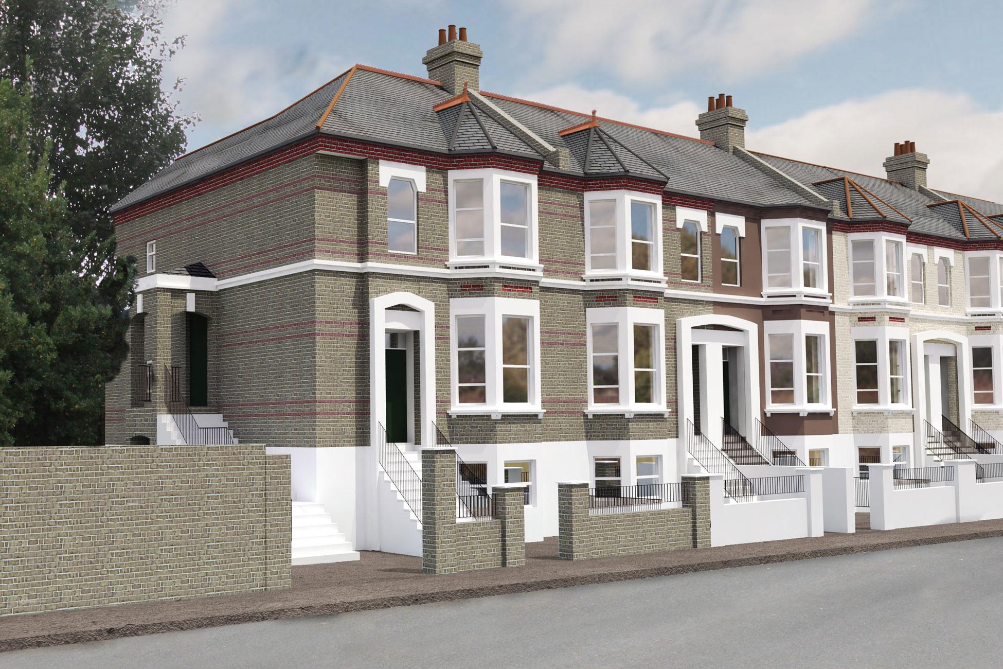 3D CGI design property exterior