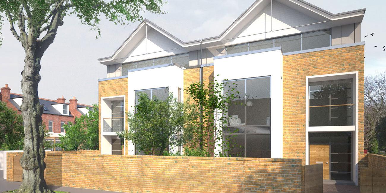 3D CGI property exterior