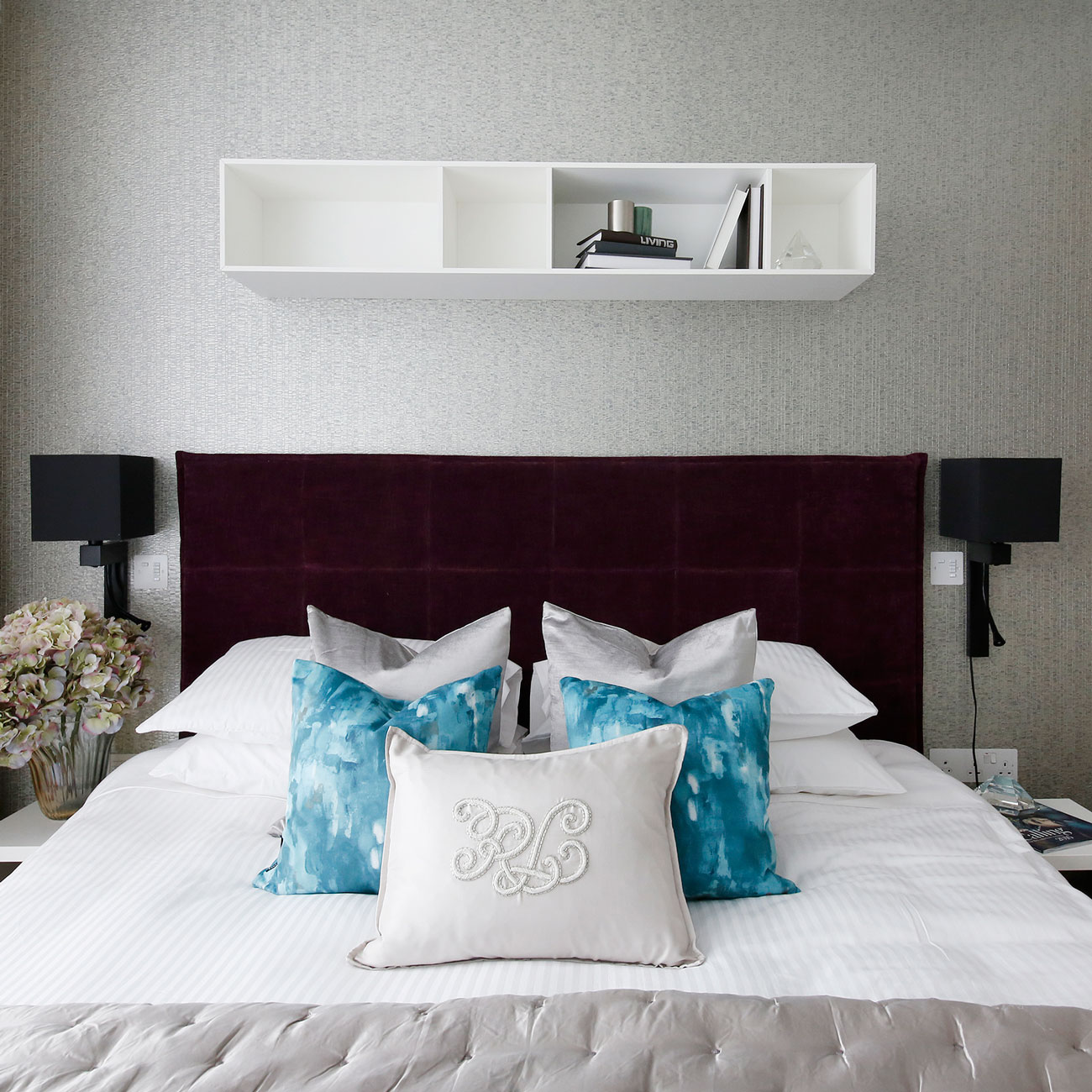 Interior photography, bedroom detail
