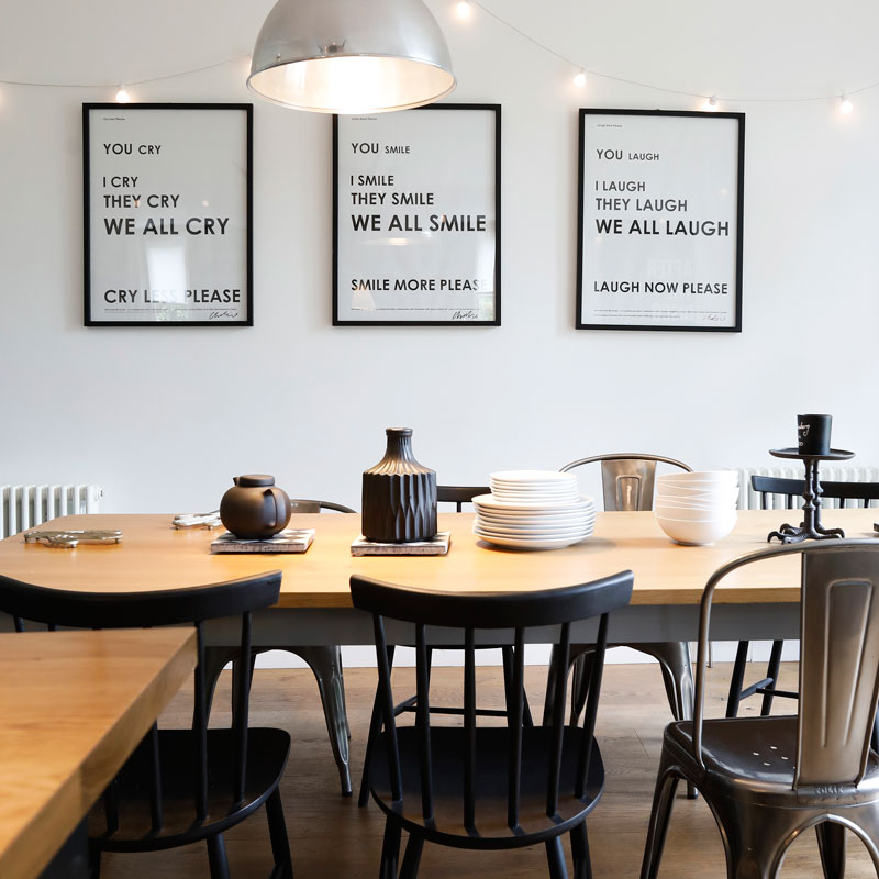 Interior property photography, smart dining area