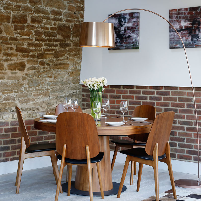 Interior photography, corner dining area