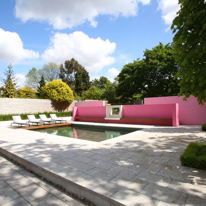 Property photography exterior garden pool