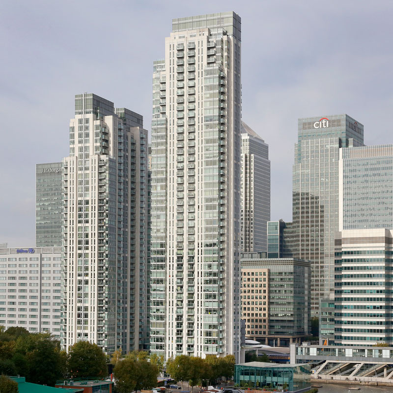 Exterior property photography, Canary Wharf London