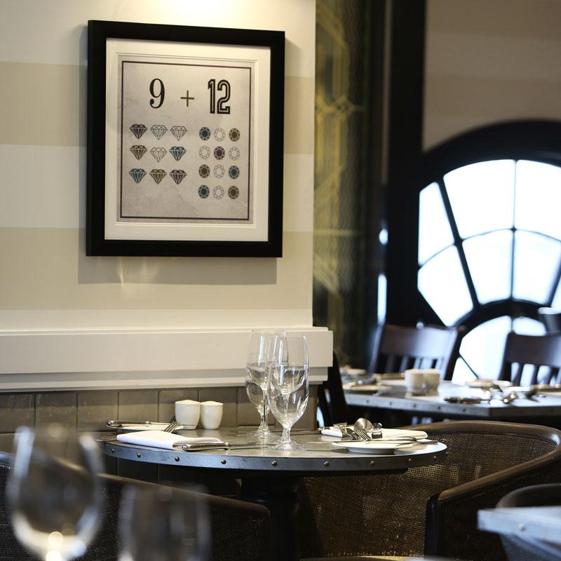 Hotel Gotham Manchester - dining detail