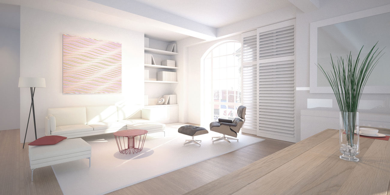 3D CGI property interior