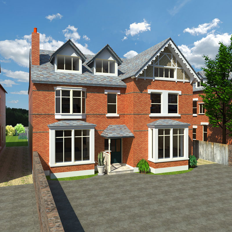 3D CGI design property frontage + driveway