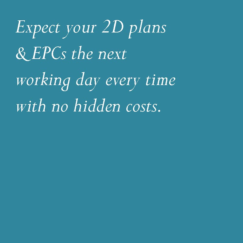 EPCs & 2D plans within next working day