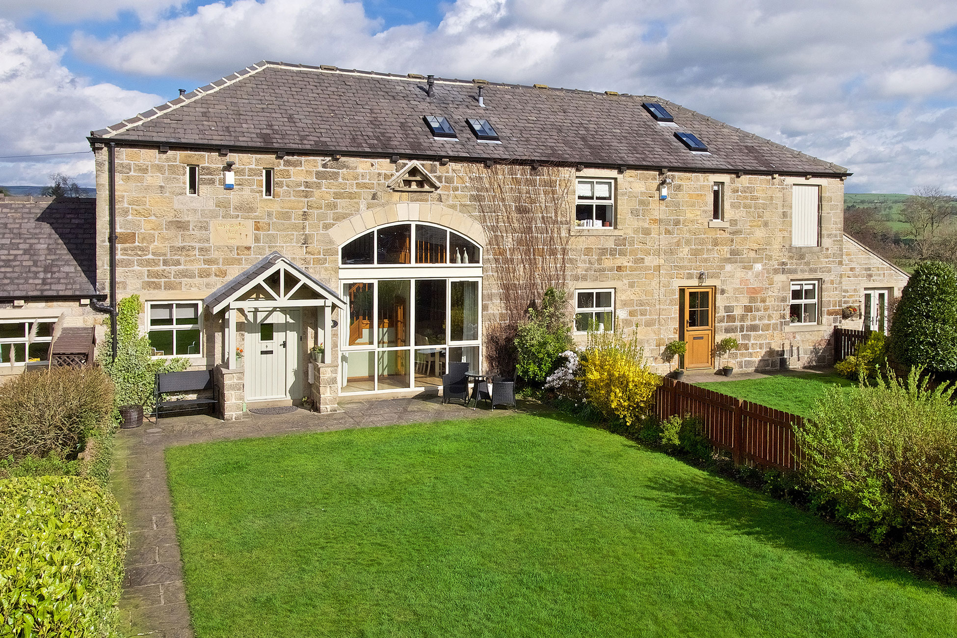 Elevated photography, property frontage + garden Yorkshire