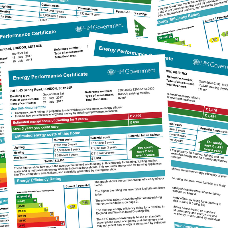EPCs for residential properties