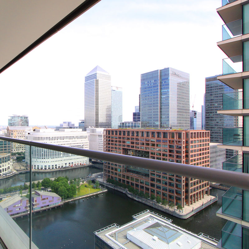 Exterior property photography, London balcony view