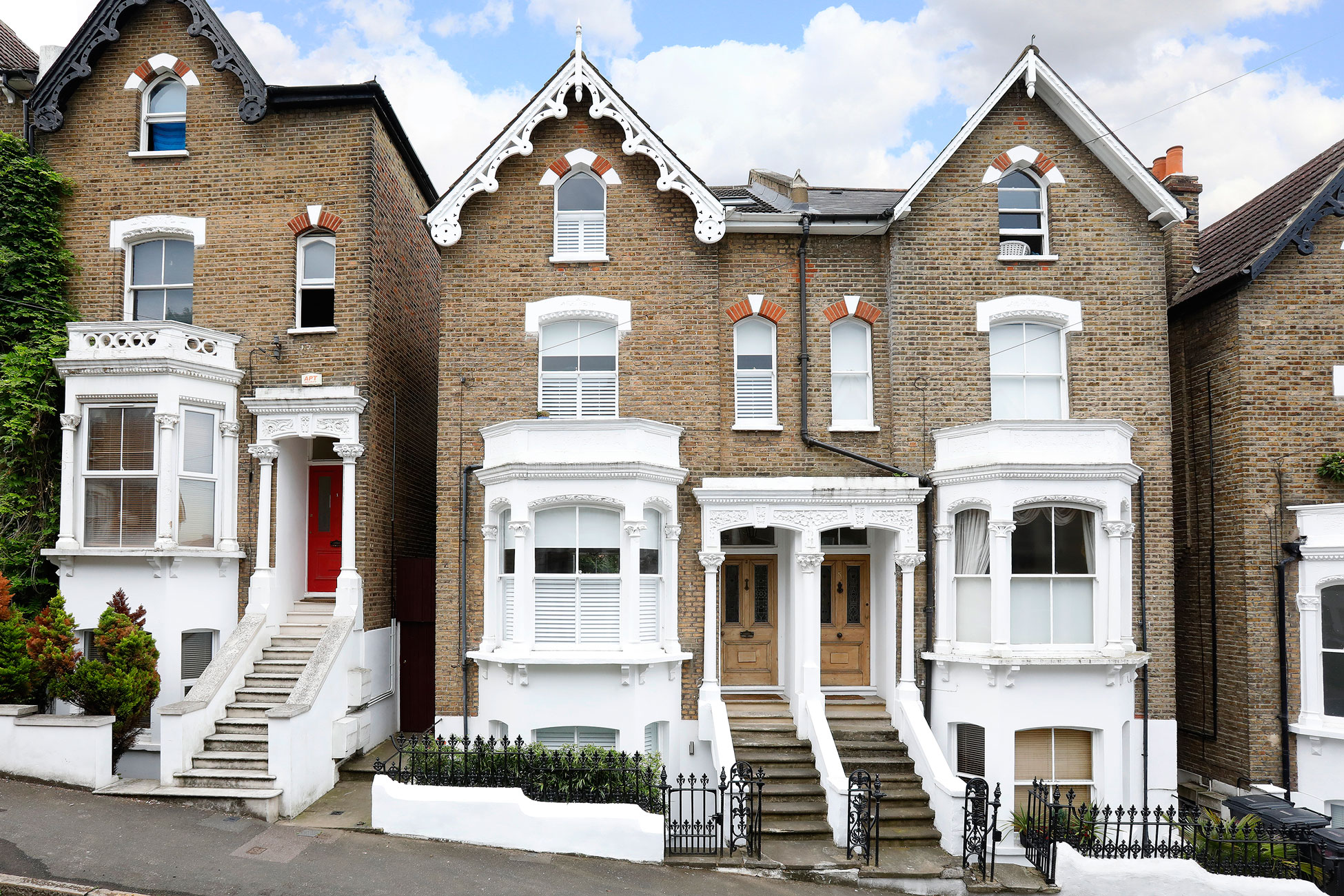 Exterior photography, Victorian property frontage London