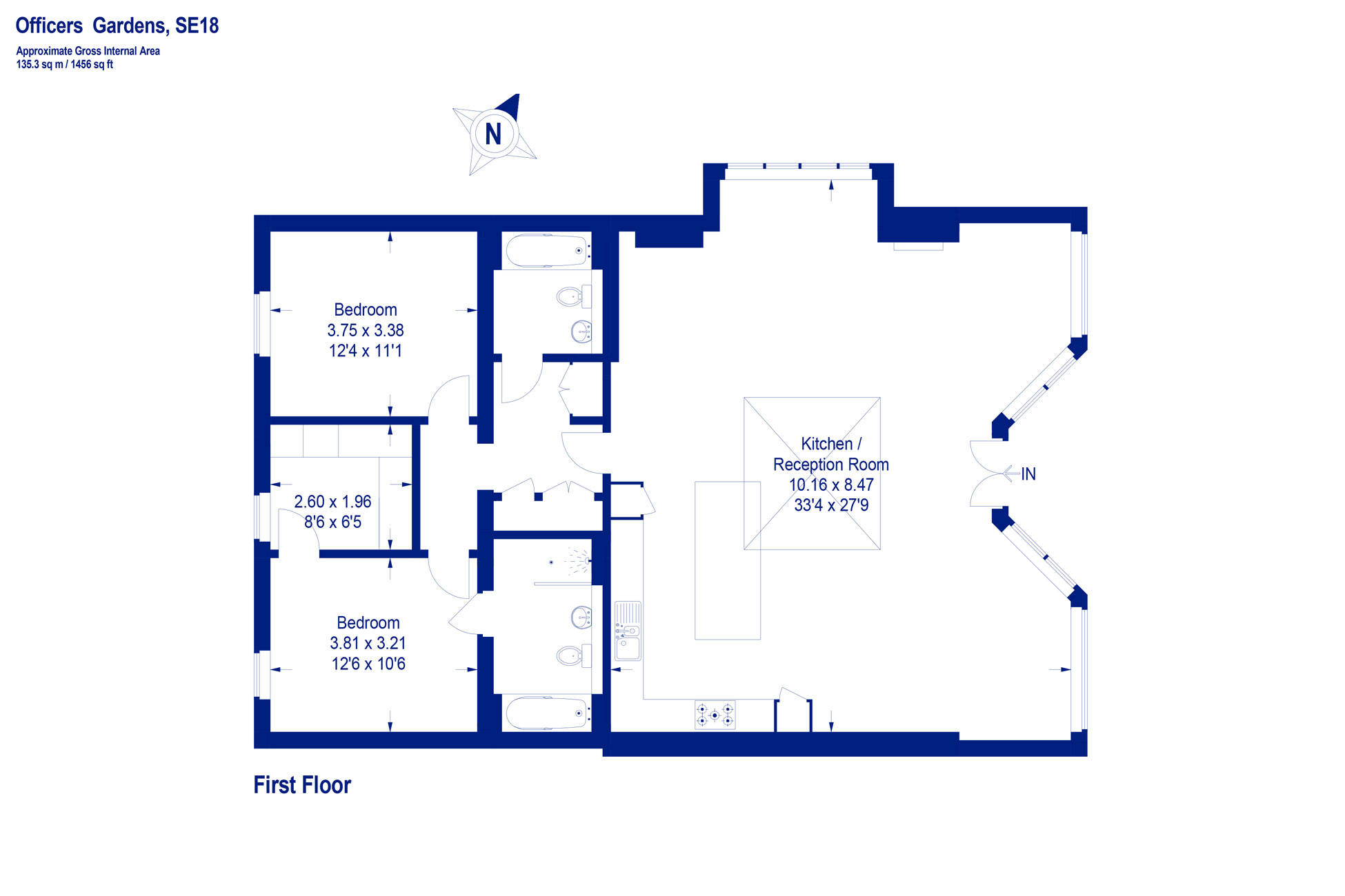 Floor plan (navy)
