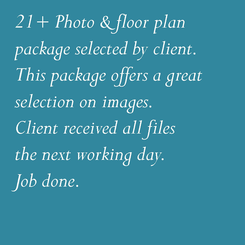 Photo + floor plan package