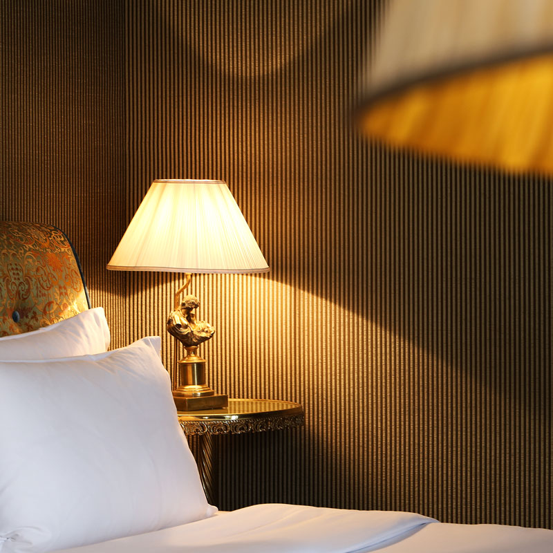 Hotel photography, bedroom detail