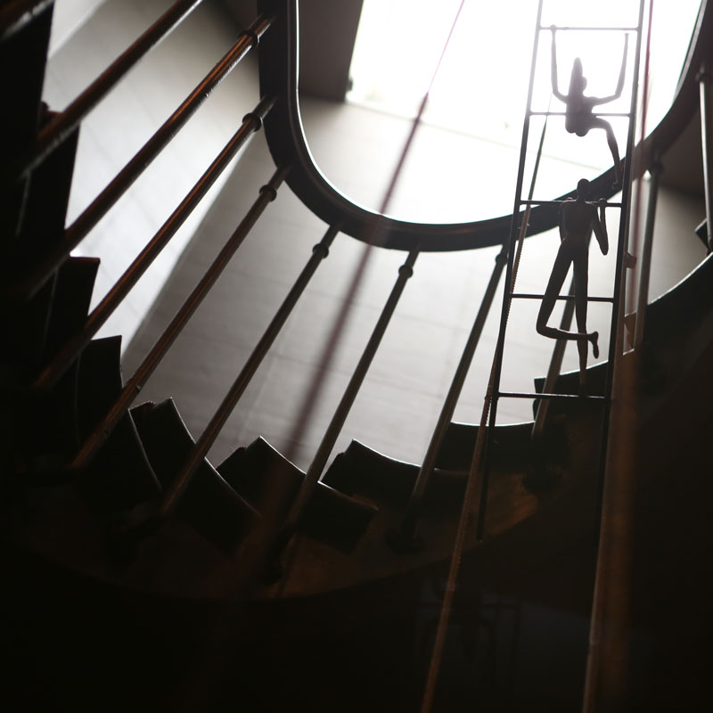 Hotel photography, staircase detail