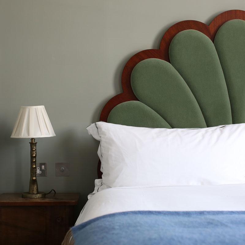 Hotel photography, bedroom interior design detail