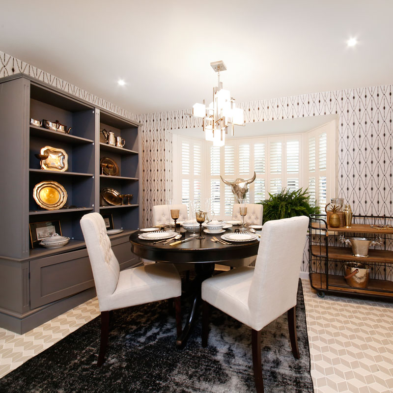 Ideal Home Show photography - interior set, dining room