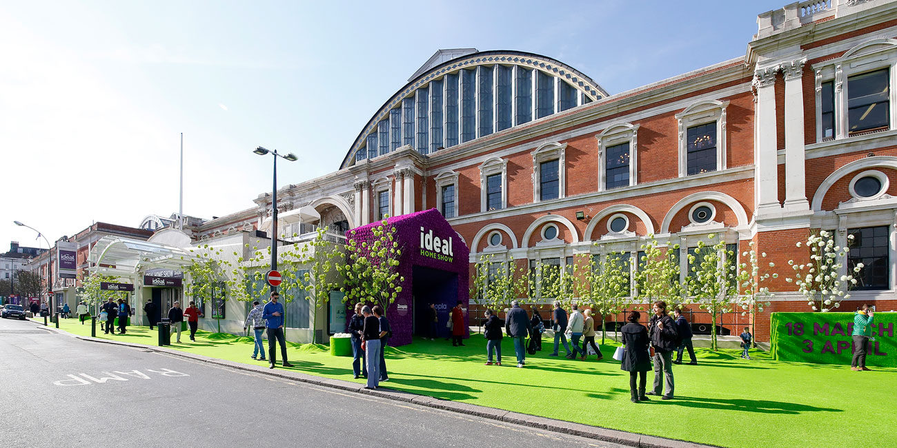 Ideal Home Show photography exterior view