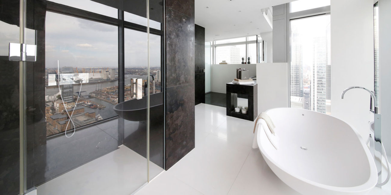 Interior photography, modern bathroom