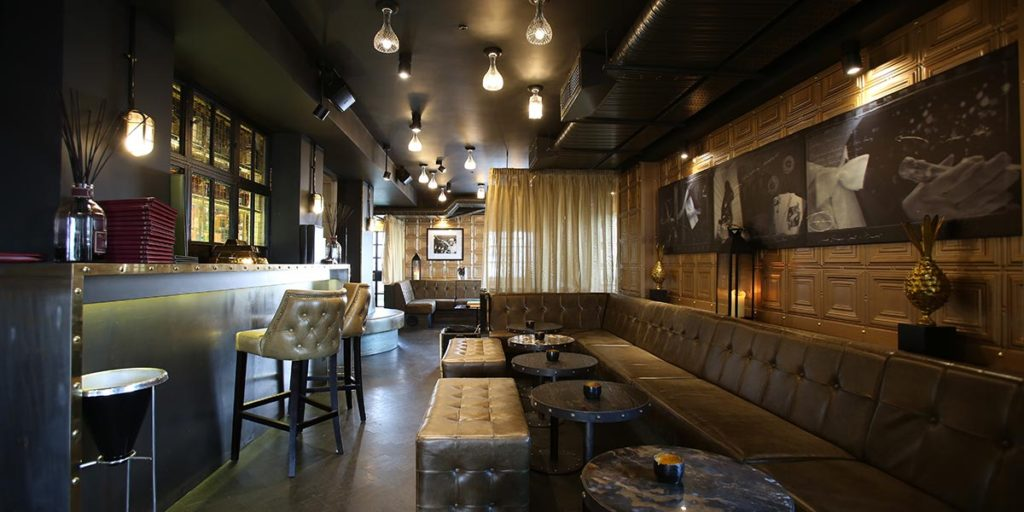 Hotel photography, bar interior design